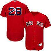 Majestic Men's Authentic Boston Red Sox J.D. Martinez #28 Flex Base Alternate Red On-Field Jersey