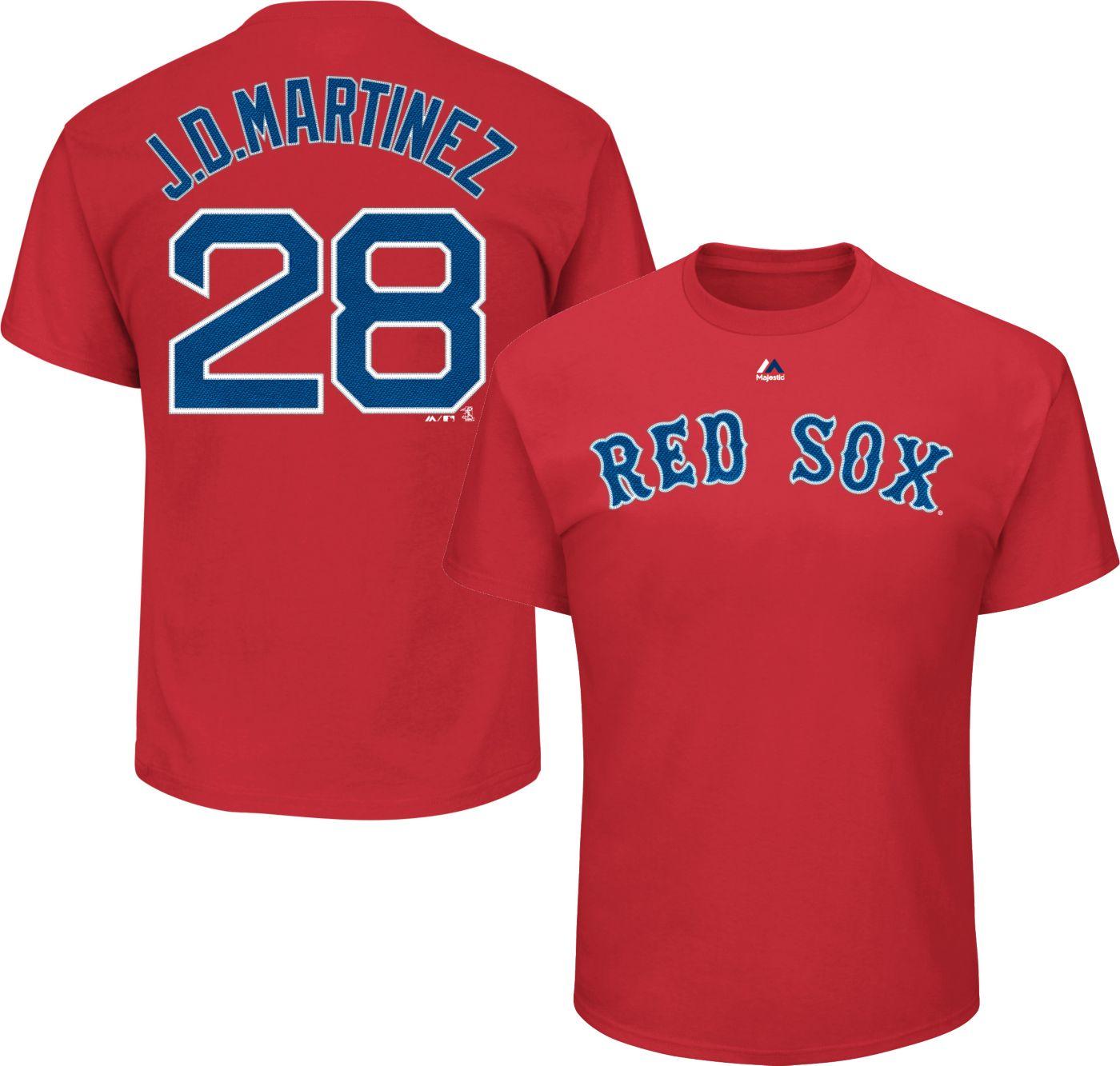 Majestic Men's Boston Red Sox J.D. Martinez #28 Red T-Shirt