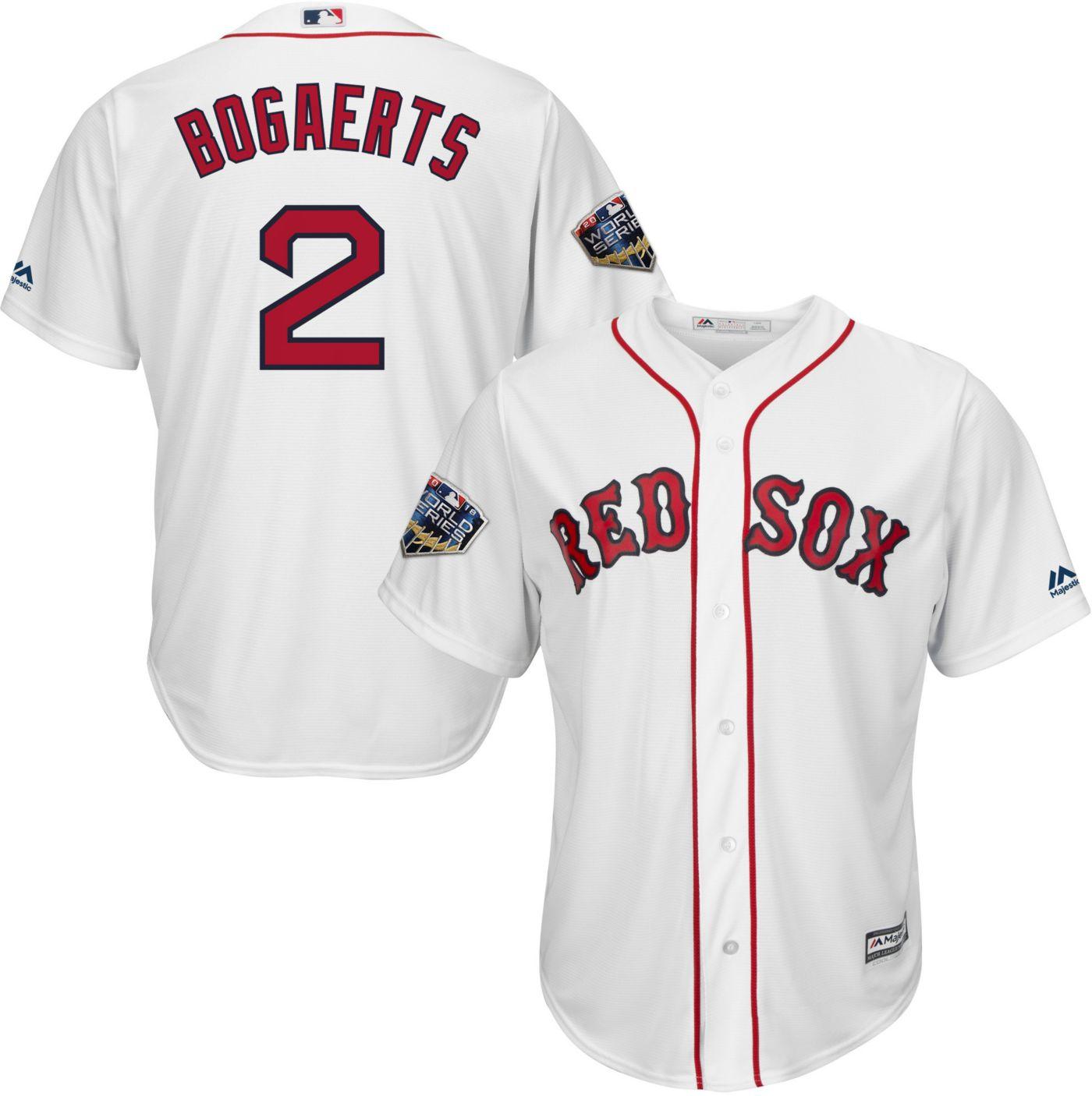 Majestic Men's 2018 World Series Replica Boston Red Sox Xander Bogaerts Cool Base Home White Jersey