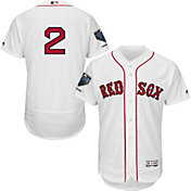Majestic Men's 2018 World Series Champions Authentic Boston Red Sox Xander Bogaerts Flex Base Home White On-Field Jersey