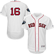 Majestic Men's 2018 World Series Authentic Boston Red Sox Andrew Benintendi Flex Base Home White On-Field Jersey