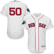 Majestic Men's 2018 World Series Authentic Boston Red Sox Mookie Betts Flex Base Home White On-Field Jersey
