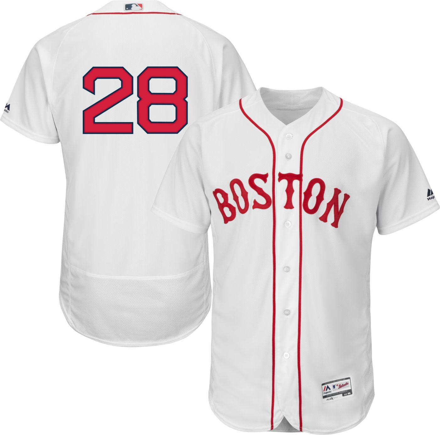 Majestic Men's Authentic Boston Red Sox J.D. Martinez #28 Flex Base Home White On-Field Jersey