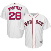 Majestic Men's Replica Boston Red Sox J.D. Martinez #28 Cool Base Home White Jersey