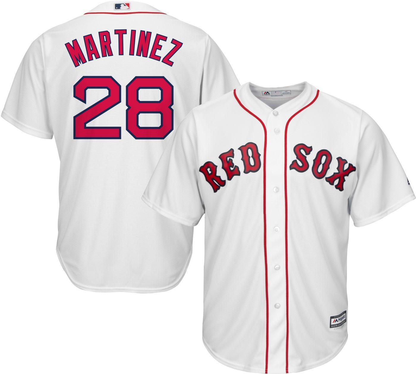 Majestic Men's Replica Boston Red Sox J.D. Martinez #28 Cool Base Home White Jersey