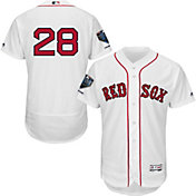 Majestic Men's 2018 World Series Champions Authentic Boston Red Sox J.D. Martinez Flex Base Home White On-Field Jersey
