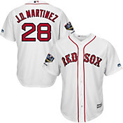 Majestic Men's 2018 World Series Champions Replica Boston Red Sox J.D. Martinez Cool Base Home White Jersey