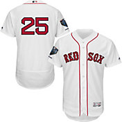 Majestic Men's 2018 World Series Champions Authentic Boston Red Sox Steve Pearce Flex Base Home White On-Field Jersey