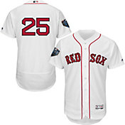 Majestic Men's 2018 World Series Authentic Boston Red Sox Steve Pearce Flex Base Home White On-Field Jersey