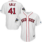 Majestic Men's 2018 World Series Champions Replica Boston Red Sox Chris Sale Cool Base Home White Jersey