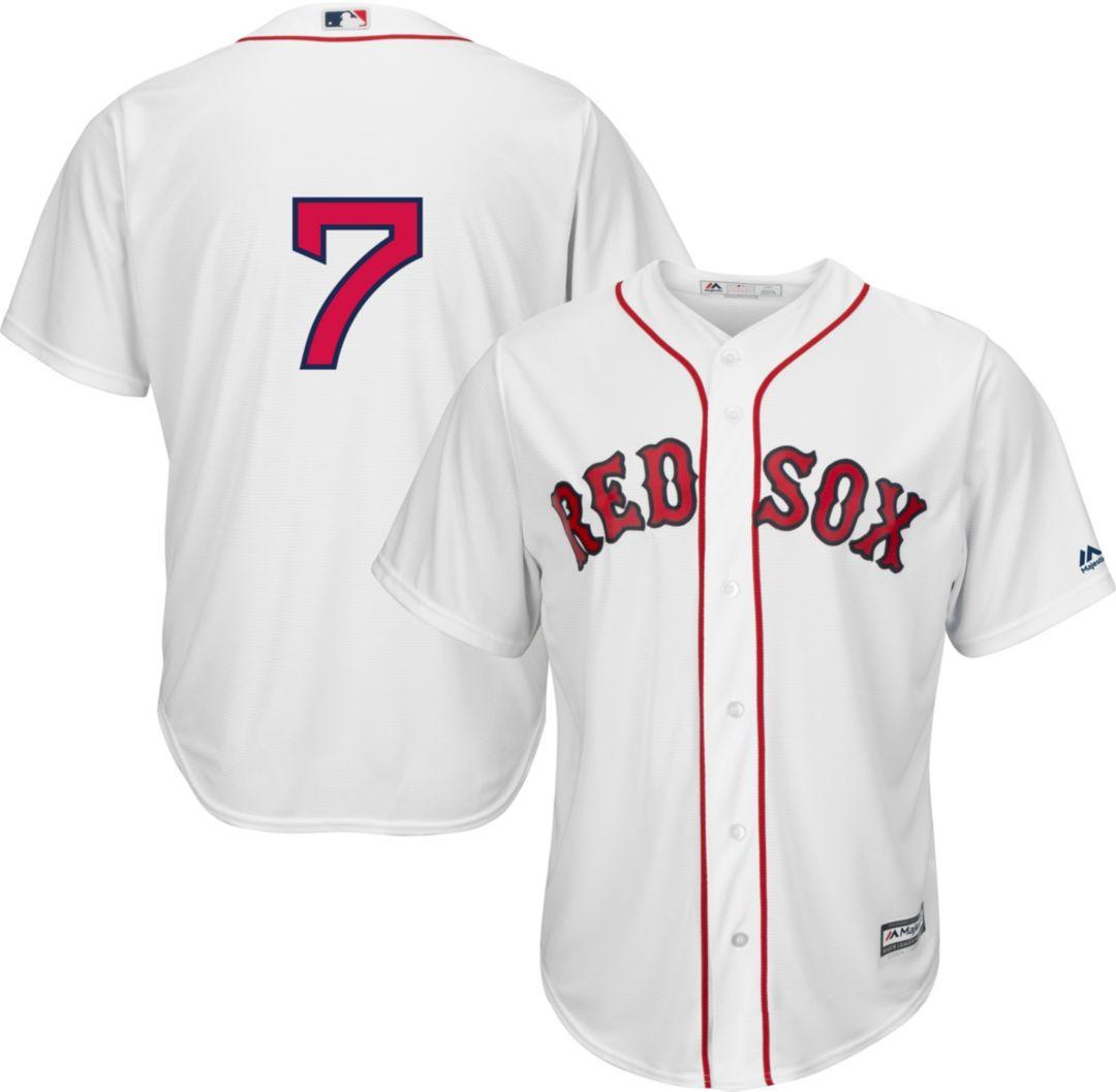 7f40aa5c83a Majestic Men s Replica Boston Red Sox Christian Vasquez  7 Cool Base Home  White Jersey 1