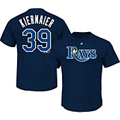 Majestic Men's Tampa Bay Rays Kevin Kiermaier #39 Navy T-Shirt