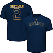 Majestic Men's Houston Astros Alex Bregman #2 Championship Gold T-Shirt