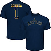 Majestic Men's Houston Astros Carlos Correa #1 Championship Gold T-Shirt