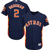 Majestic Men's Authentic Houston Astros Alex Bregman #2 Flex Base Alternate Navy On-Field Jersey