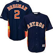 Majestic Men's Replica Houston Astros Alex Bregman #2 Cool Base Alternate Navy Jersey