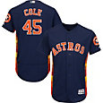 Majestic Men's Authentic Houston Astros Gerrit Cole #45 Flex Base Alternate Navy On-Field Jersey