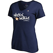 Majestic Women's Houston Astros 2018 MLB Postseason Navy V-Neck T-Shirt