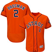 Majestic Men's Authentic Houston Astros Alex Bregman #2 Flex Base Alternate Orange On-Field Jersey