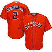 Majestic Men's Replica Houston Astros Alex Bregman #2 Cool Base Alternate Orange Jersey