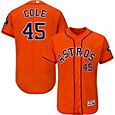 Majestic Men's Authentic Houston Astros Gerrit Cole #45 Flex Base Alternate Orange On-Field Jersey
