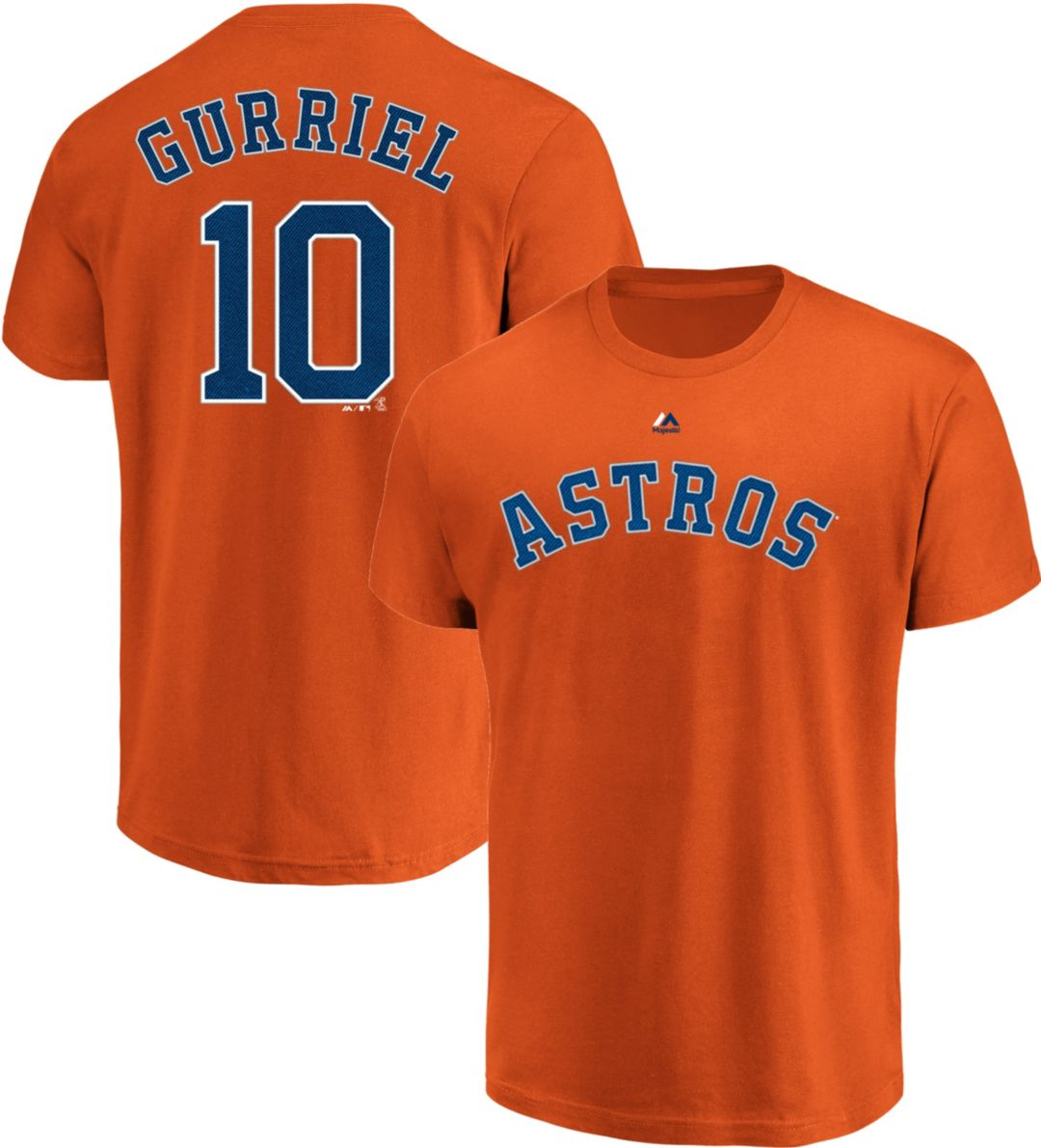 new product 894b4 2e2be Majestic Men's Houston Astros Yuli Gurriel #10 Orange T-Shirt