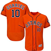 Majestic Men's Authentic Houston Astros Yuli Gurriel #10 Flex Base Alternate Orange On-Field Jersey