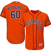 Majestic Men's Authentic Houston Astros Dallas Keuchel #60 Flex Base Alternate Orange On-Field Jersey