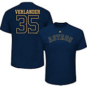 Majestic Men's Houston Astros Justin Verlander #35 Championship Gold T-Shirt