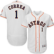 Majestic Men's Authentic Houston Astros Carlos Correa #1 Flex Base Home White On-Field Jersey