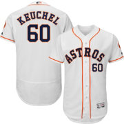 Majestic Men's Authentic Houston Astros Dallas Keuchel #60 Flex Base Home White On-Field Jersey