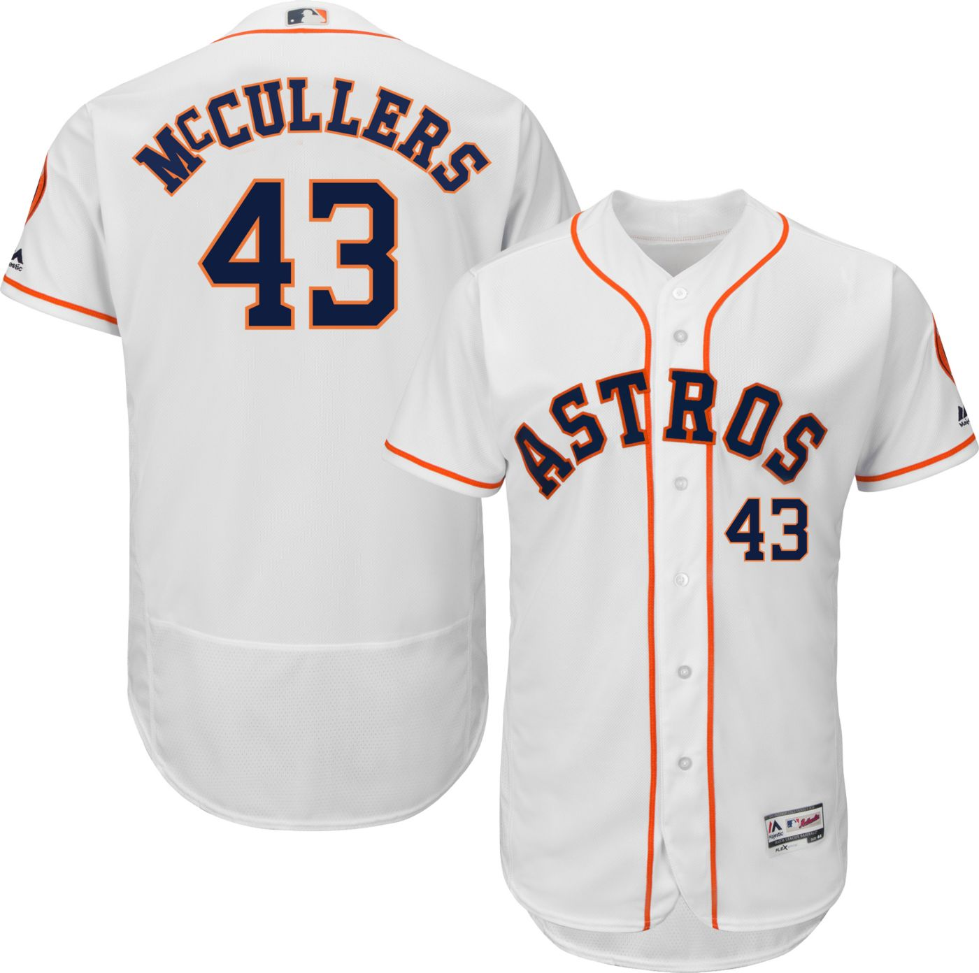 Majestic Men's Authentic Houston Astros Lance McCullers #43 Flex Base Home White On-Field Jersey