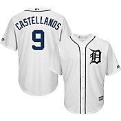 Majestic Men's Replica Detroit Tigers Nick Castellanos #9 Cool Base Home White Jersey