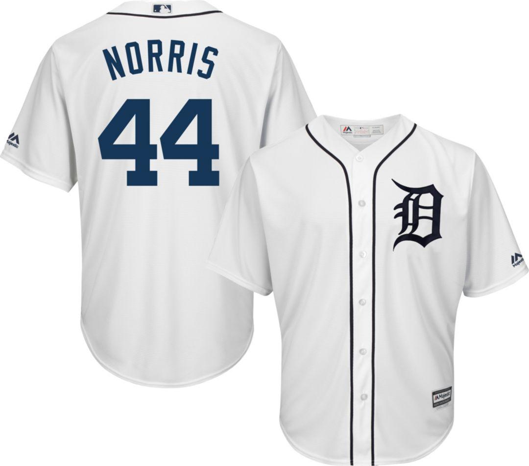 competitive price 7436e b44ad Majestic Men's Replica Detroit Tigers Daniel Norris #44 Cool Base Home  White Jersey