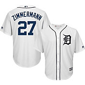 Majestic Men's Replica Detroit Tigers Jordan Zimmermann #27 Cool Base Home White Jersey