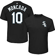 Majestic Men's Chicago White Sox Yoan Moncada #10 Black T-Shirt