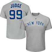 Majestic Men's New York Yankees Aaron Judge #99 Grey T-Shirt