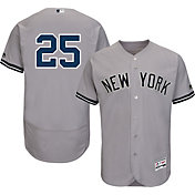 Majestic Men's Authentic New York Yankees Gleyber Torres #25 Flex Base Road Grey On-Field Jersey