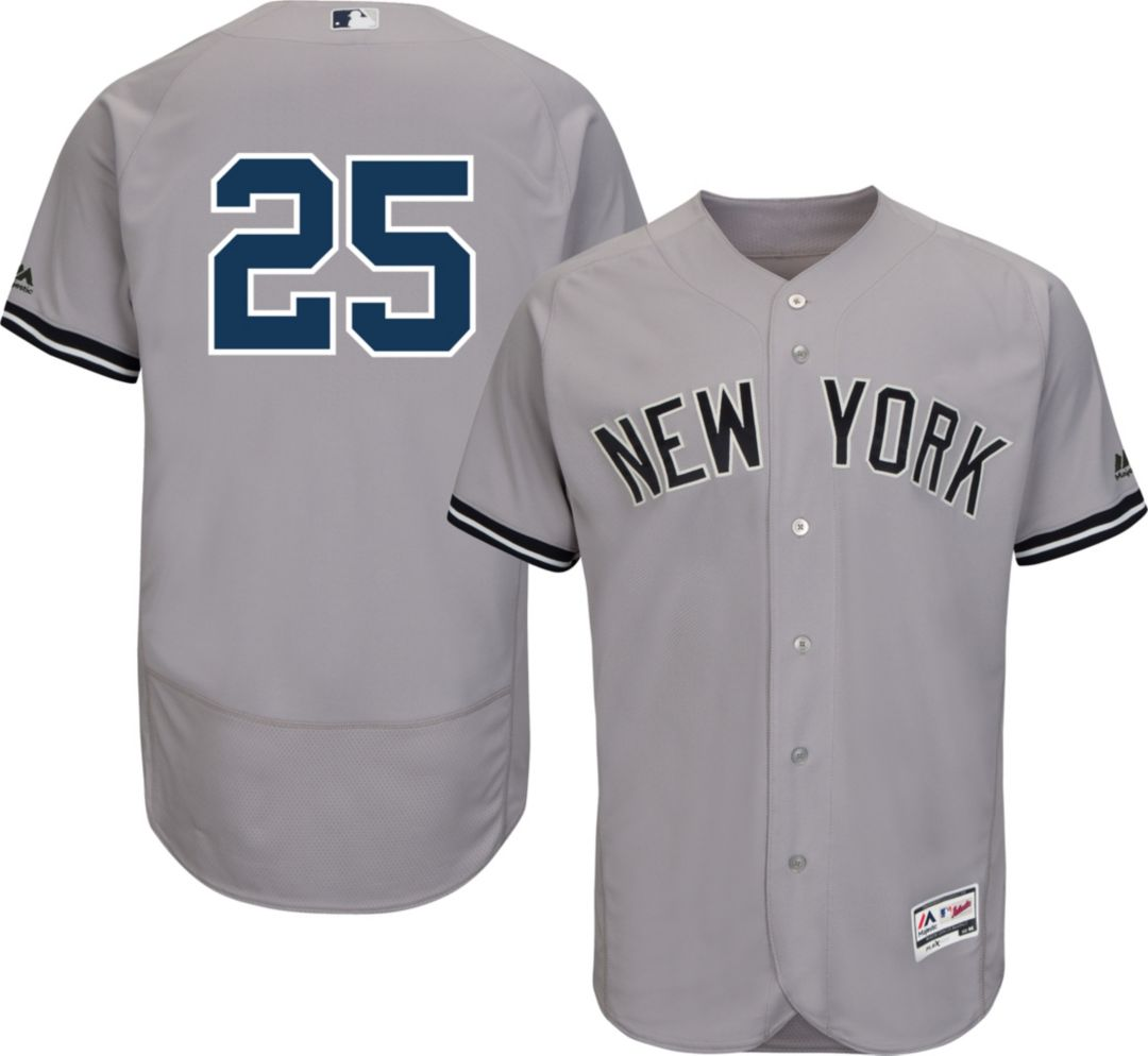 huge discount 857dd 56f8a Majestic Men's Authentic New York Yankees Gleyber Torres #25 Flex Base Road  Grey On-Field Jersey