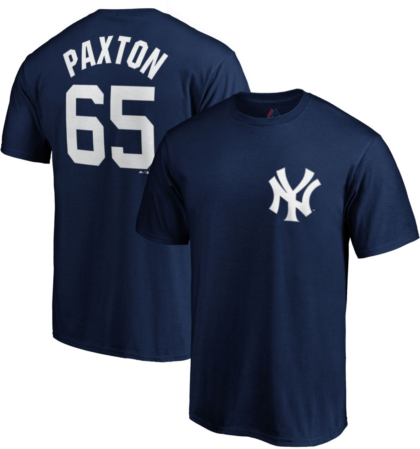 Majestic Men's New York Yankees James Paxton #65 Navy T-Shirt