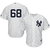 Majestic Men's Replica New York Yankees Dellin Betances #68 Cool Base Home White Jersey