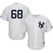 Majestic Men's Replica New York Yankees Dellin Betances #68 Cool Base Home White Jersey