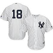 Majestic Men's Replica New York Yankees Didi Gregorius #18 Cool Base Home White Jersey