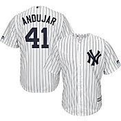 Majestic Men's Replica New York Yankees Miguel Andujar #41 Cool Base Home White Jersey