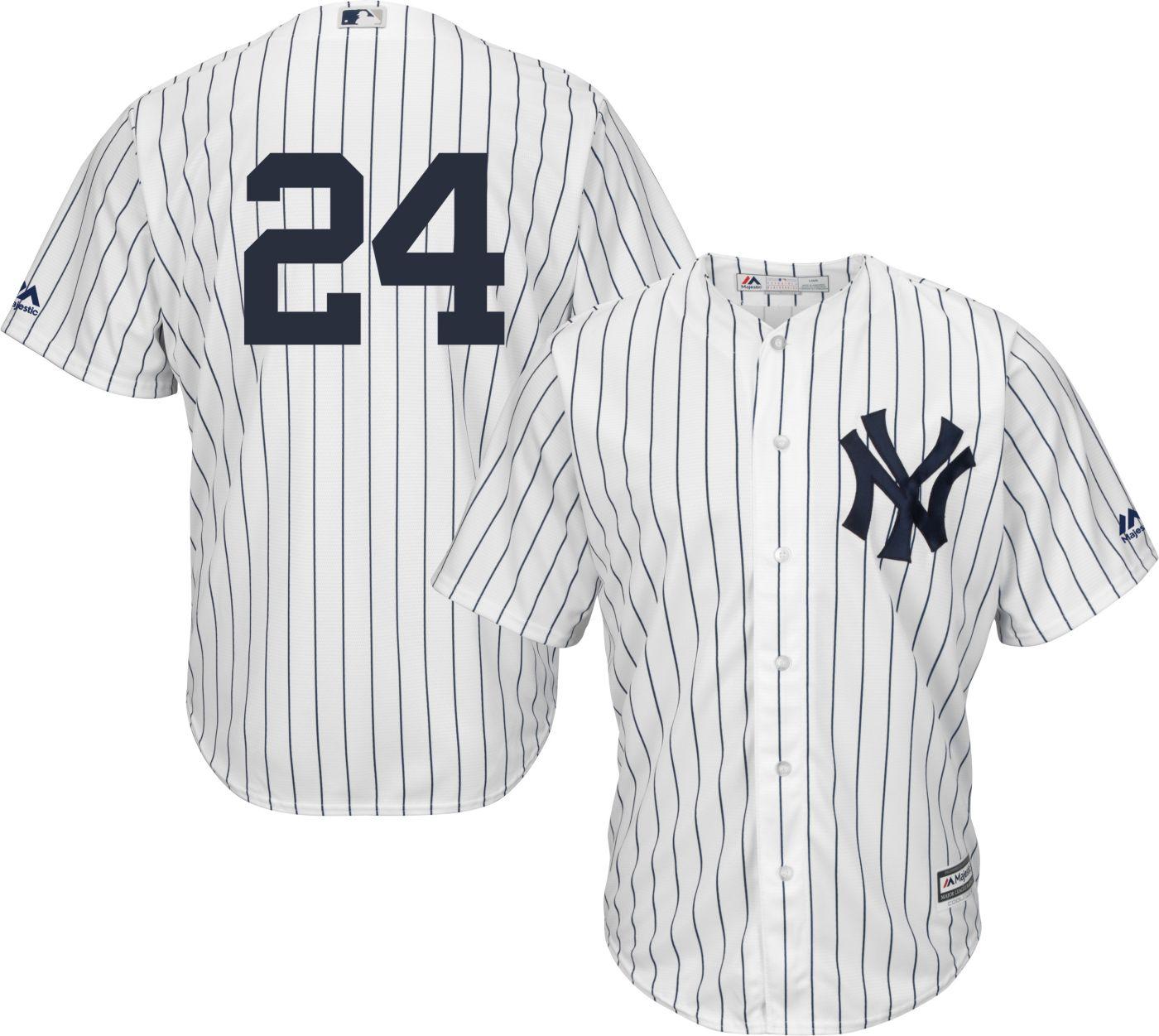 Majestic Men's Replica New York Yankees Gary Sanchez #24 Cool Base Home White Jersey
