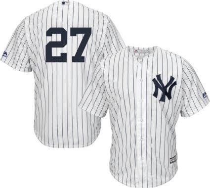 Majestic Men s Replica New York Yankees Giancarlo Stanton  27 Cool Base  Home White Jersey. noImageFound eb8a3892c