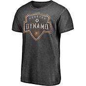 Majestic Men's Houston Dynamo Washed Logo Black T-Shirt