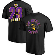 Majestic Men's Los Angeles Lakers LeBron James #23 Black T-Shirt