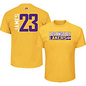 226993810b8 Product Image · Majestic Men s Los Angeles Lakers LeBron James  23 Gold T- Shirt
