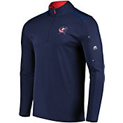 Majestic Men's Columbus Blue Jackets Ultra Navy Quarter-Zip Pullover